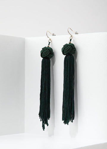 Monkey's Fist Knot Earrings (green) Earrings - FIACCI