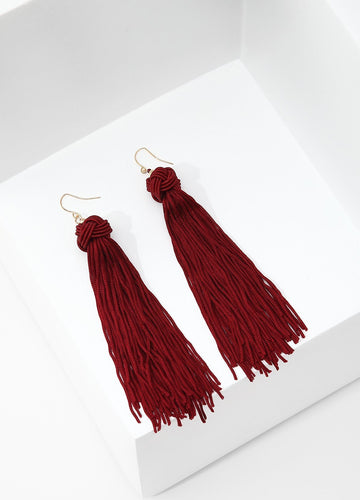 Monkey's Fist Knot Earrings (red) Earrings - FIACCI