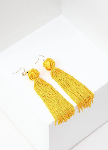 Monkey's Fist Knot Earrings (yellow) Earrings - FIACCI