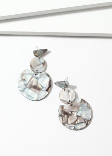 Mosaic (grey) Earrings - FIACCI