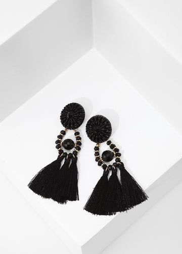 Spanish Dancer Earrings (black) Earrings - FIACCI