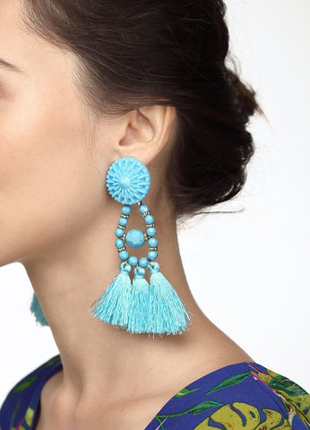 Spanish Dancer Earrings (blue) Earrings - FIACCI