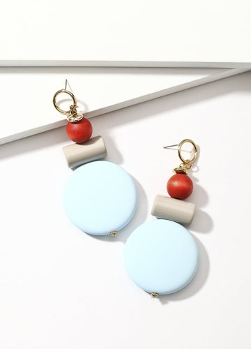 Sweet Candy (sky Blue) Earrings - FIACCI