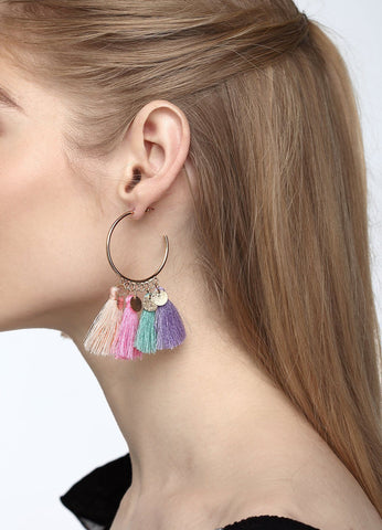 Tassels And Spangles Earrings (multicolor) Earrings - FIACCI
