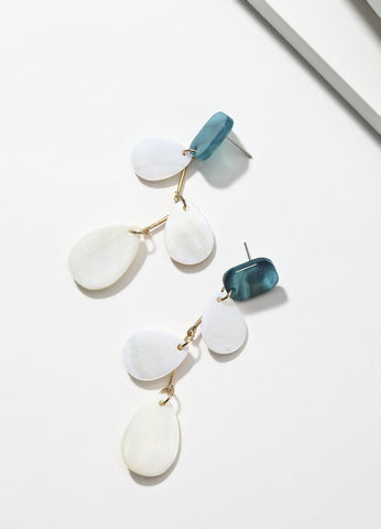 Teal Treasures Earrings - FIACCI