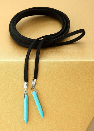 Cowgirl Lariat Turquoise Necklace (black) Necklaces - FIACCI