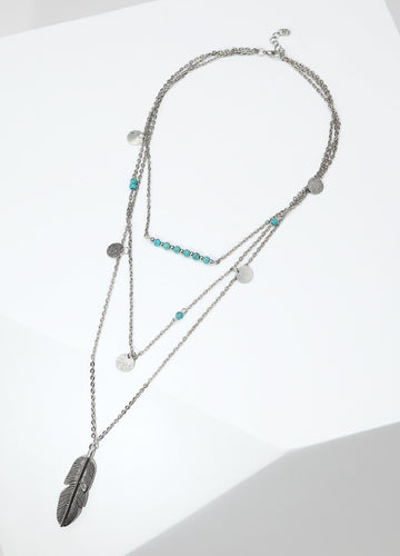 Southwestern Princess Necklace (silver) Necklaces - FIACCI