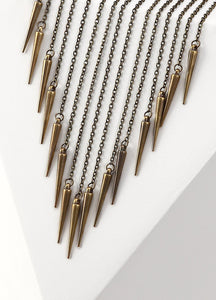 Waterfall Chain Bib Necklace (bronze) Necklaces - FIACCI