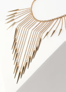 Waterfall Chain Bib Necklace (gold) Necklaces - FIACCI