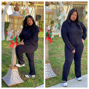 """KEEP ME WARM""  2 Piece Mock Neck Set"