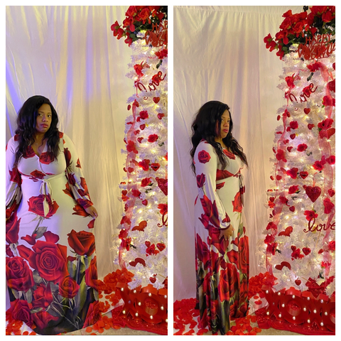 """ROSES OF LOVE"" Maxi Dress"