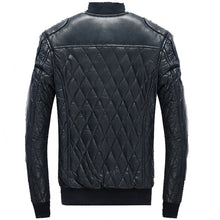 Men's Slim Fit Quilted Faux Leather Racer Jacket