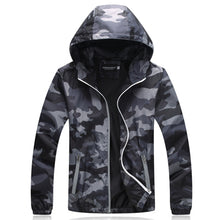 Men's Slim Fit Camouflage Hooded Jacket