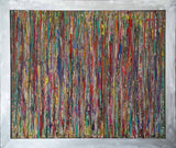 """Living with Colors 1"" by Hilit Friedfertig, Acrylic on Canvas (Aluminum Frame)"