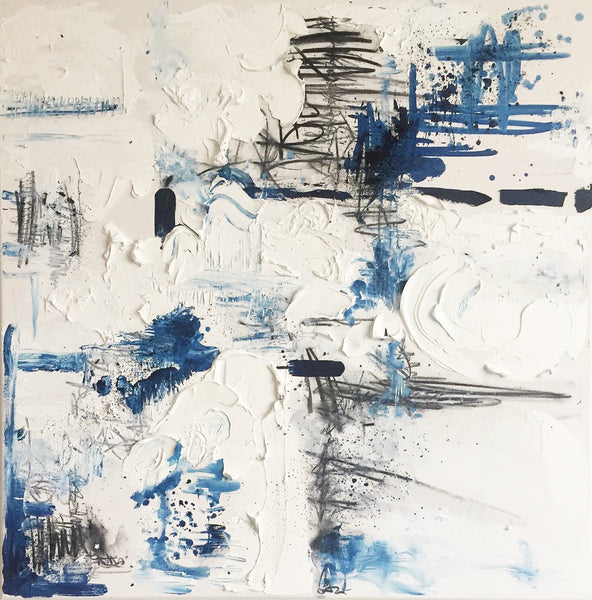 """The End"" by Marianne Moore, Oil and Charcoal on Canvas"