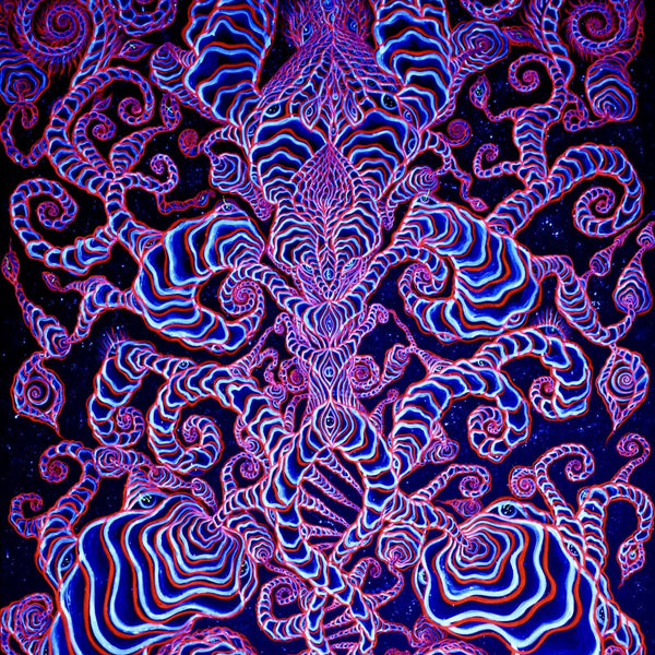"""Pure Consciousness"" by Alex Aliume, Fluorescent Acrylic on Canvas"