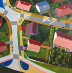 """Nysa City Development"" by Toni Silber-Delerive, Acrylic on Canvas"