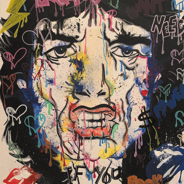 Mick by Jill Keller, Acrylic on Canvas