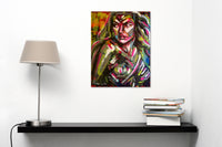 """Wonder Woman"" by Thais Coelho, Mixed Media on Canvas"