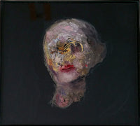 """Portrait Study"" by Bruce Brand, Oil on Glass (Framed)"