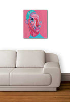 """UNO EN ROSA # 3"" by UNO, Acrylic on Canvas"