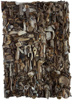 """Aguamarga"" by Arturo Javier Reyes Medina, Driftwood on Reinforced Canvas"