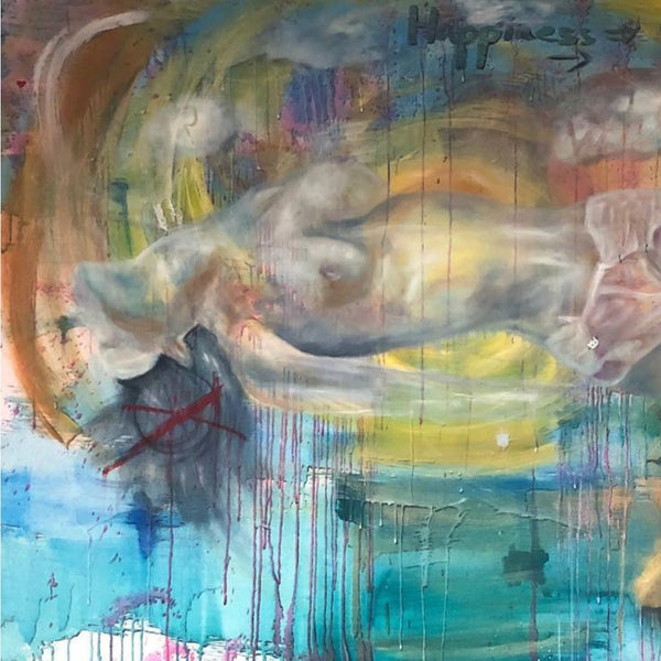 """Surrender"" by Sophia Engi Slaoui, Mixed Media on Canvas"