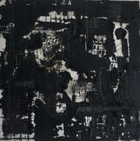 """Black"" By Marianne Moore, Oil on Canvas"