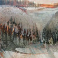 """Winter on the South Downs"" by Emma Jamison, Oil on Board"