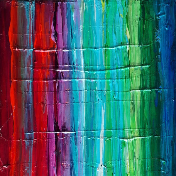 """Festival de Colores"" by Sandra Pallotta, Acrylic on Wood"