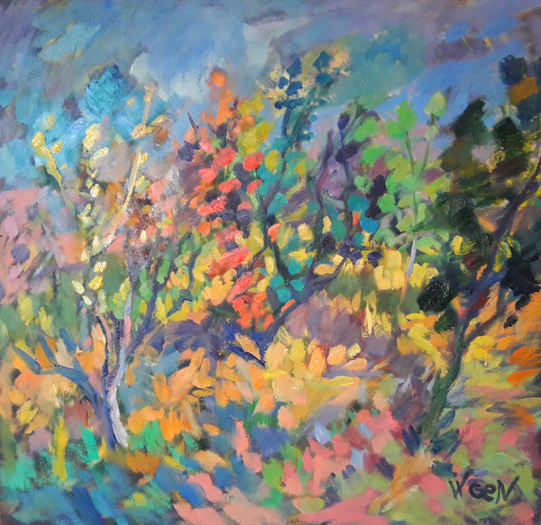 In The Garden by Vigen Sayadyan, Oil on Canvas
