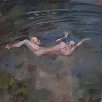 """Skinny Dipping"" by Alex Foley, Oil on Linen Board"