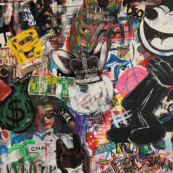 Social Chaos by Jill Keller, Mixed Media