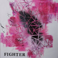 Fighter by Joanna Bladh, Acrylic and Spray Paint on Canvas