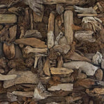"""Genoveses"" by Arturo Javier Reyes Medina, Driftwood on Reinforced Canvas"
