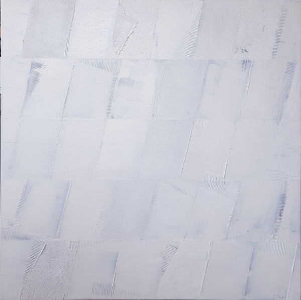 """Monochrome White 4"" by Stephanie Menard, Acrylic on Canvas"