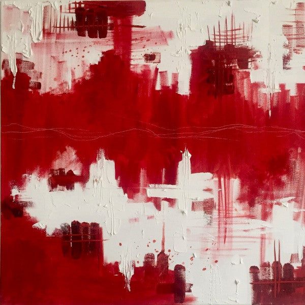 """Red City"" By Marianne Moore, Oil on Canvas"