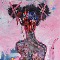 """Branded Identity"" by Sophia Engi Slaoui, Mixed Media on Canvas"