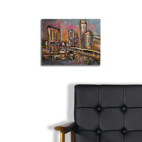 """Austin Cityscape"" by Ryan Crawley, Acrylic on Canvas"