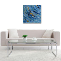 """Blue Waves"" by Laura Payen, Acrylic on Canvas"