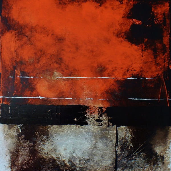 """Unable to Cross the Line"" by Edoardo Vaira, Mixed Media on Canvas"