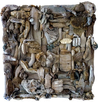 """Rodalquilar"" by Arturo Javier Reyes Medina, Driftwood on Reinforced Canvas"