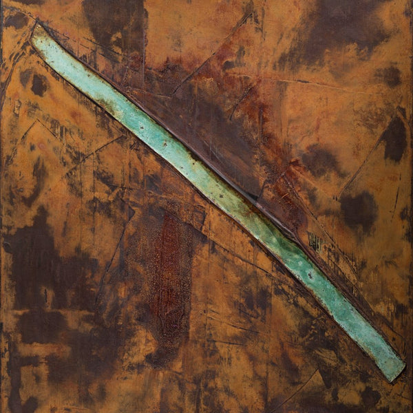 """No Title 3"" by Nox, Acrylic with Iron and Brass Oxidation"