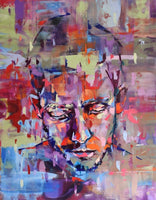 Focus by Bastien Ducourtioux, Mixed Media on Canvas