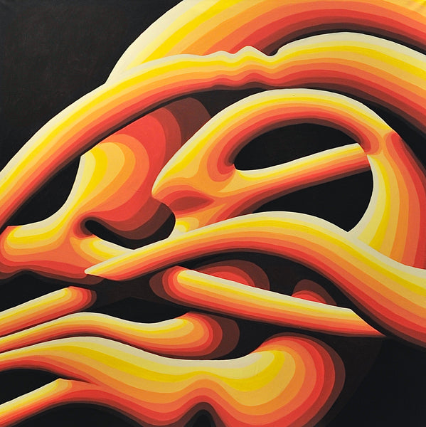 """Sun"" by Addison Kupina, Acrylic on Canvas"