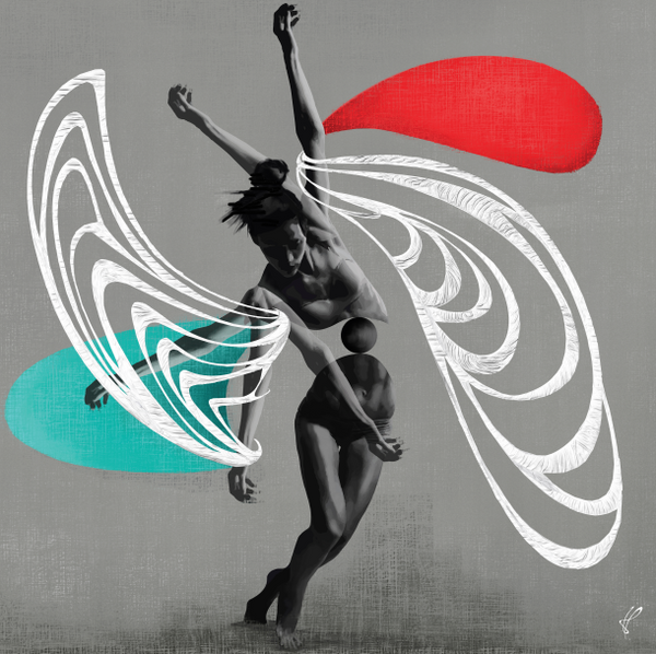 Balance by Juan Primera, Digital Art on Canvas