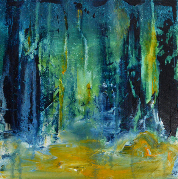 """Balade Nocturne"" by Roseline Al Oumami, Acrylic on Canvas (Framed)"
