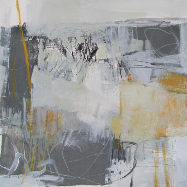 """Between the Lines"" by Fiona Rowett, Acrylic on Paper"