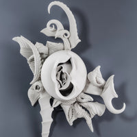 """Wall Piece No.27"" by Charles Birnbaum, Porcelain Wall Sculpture"