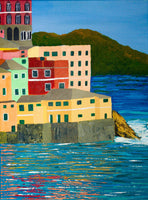 Boccadasse by Melissa Jane Fernandes, Acrylic on Canvas